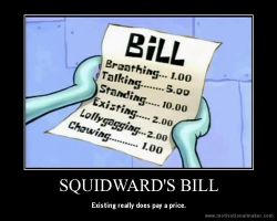squidward's bill by deKirbyGal