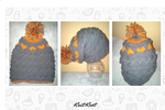Love Heart Slouchy Beanie by KnitKnotHats