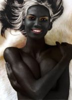 Heidi Klum Drow queen fakeover by chrischaaan