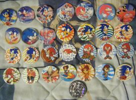 All My Sonic Pogs - Has Sally by SEGAMew
