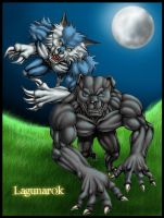 Werewolves color by lagunarok