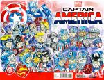 Captain America Versions Sketch Cover by mannycartoon