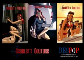Scarlett Couture comic covers by DESPOP