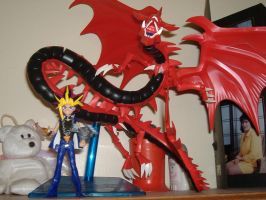 My Yami and Slifer Figurines by PharaohAtisLioness