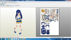 Wendy Marvell papercraft by rexxkentrix
