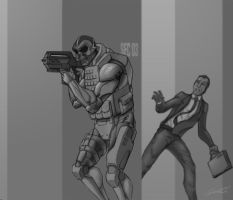 Security sketch commission by SamTodhunter