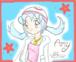 Trainer Amy - Face view by HirokoTheHedgehog