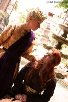 Sansa Stark and Joffrey Baratheon by moonflower-lights