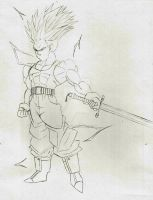 Trunks AT Ascended SSJ2 sketch by DavidsKovach