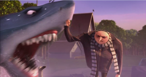 Gru Punched Shark by MetalBeak17