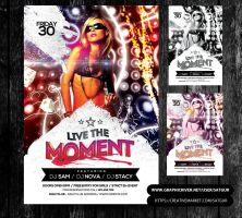 Live the Moment Party Flyer by satgur
