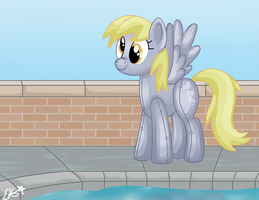 Derpy the Pool Toy by OEmilyThePenguinO