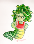 Monster a Day Challenge - Medusa by TopperHay