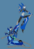 Silverblade and Arcee by dragongirl117