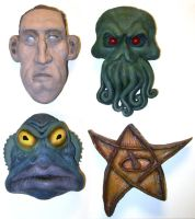 Lovecraftian Fridge Magnets by Loneanimator