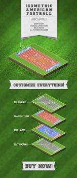Isometric American Football Illustration by ramijames