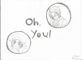 Austria and Chibitalia: Oh, You! by Ichan25