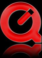 QuickTime black'n'red icon by zach-ska