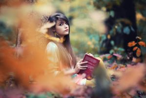 Autumn book reading by athrawn