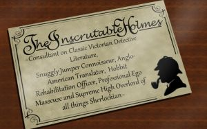 The Inscrutable Holmes Card by HugMonster341