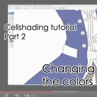 Cellshading Tutorial part 2- youtube video by Getsuart