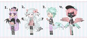 [closed] Pastel Goth Adopts (Set Price) by Malfey