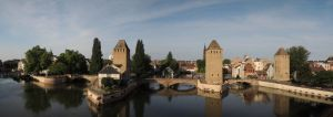 Covered bridges and towers of Strasbourg by Abujoy