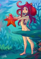 Octogirl found a Starfish by HanieMohd
