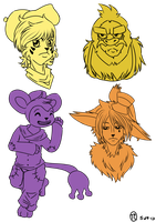 .C-D Headshot Sketches 2. by Melodious-X