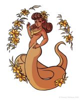 Mythological Pinup - Naga by StaceyRobson