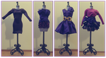 Purple Outfits by AlirizaDesign