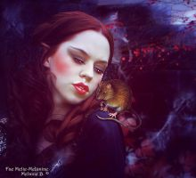 A vampire and her rat by Fae-Melie-Melusine