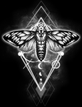 The Cicada Space Edition black background by Nagato0926