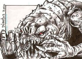 Star Wars: Rancor Sketchcard by ElfSong-Mat