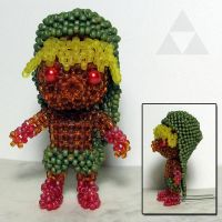Beaded doll: Deku Link (Majora's Mask) by crafty-maika