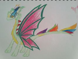 Mature form: Moon butterfly dragon, Luminatio by minecraftmobs456