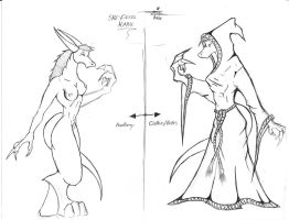 Sketch-11 (FRONT: Side by Side Comparison) by BlueDraken