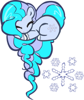 Snowdrop OC Heart Pony by pyrestriker