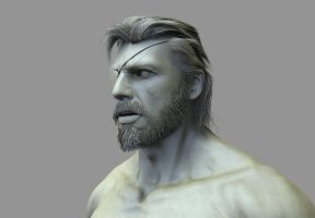 Big Boss ZBrush Sculpt WIP by FoxHound1984