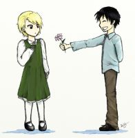 Royai- Flower for you by levimochi