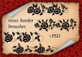 Roses Border Broushes by roula33