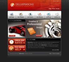 HOME website by dellustrations
