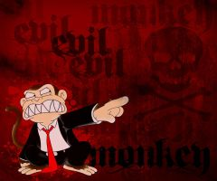 Evil Monkey by noizkrew