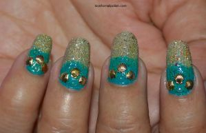 Seashell Nail Design by Gorgeousnails