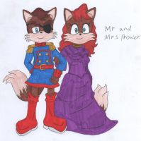 Tails' parents by luigidrawer112