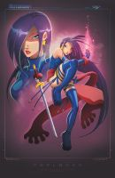 Psylocke 90s X-Men by RobDuenas