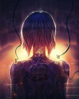 The Ghost of Motoko. by hybridgothica