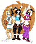 Zipporah and Cousins' Spooky Sexy Halloween by EmperorNortonII