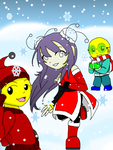 XW: Winter fun w/ Omi, Lixue, Ping-pong by DevilDeath-sama