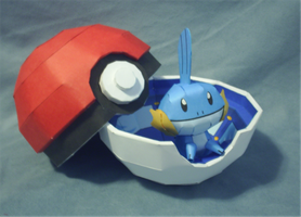 Mudkip and Pokeball Box Papercraft by sgonzales22